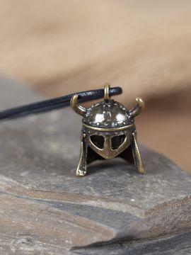 Pendentif casque à lunette viking