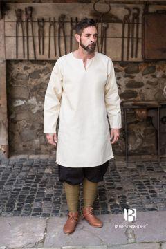 Tunique en coton peigné, blanc-écru