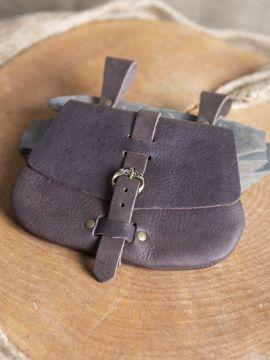 Sacoche de ceinture médiévale, en marron