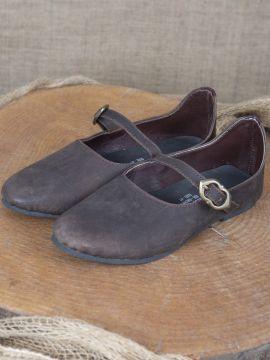 Chaussures médiévales Rieke en nubuck marron