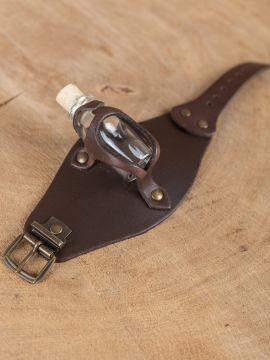 Bracelet porte fiole, en marron
