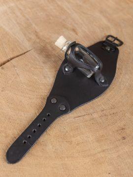 Bracelet porte fiole, en noir