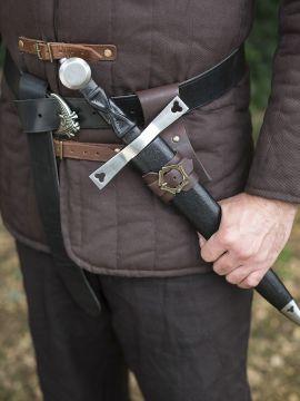 Porte épée, dague ou poignard en marron
