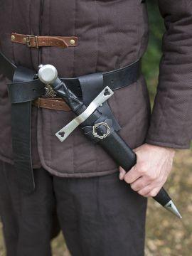 Porte épée, dague ou poignard en noir