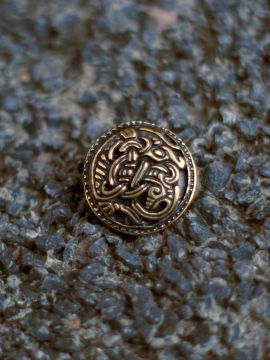 Bouton Viking motif griffon, couleur laiton à l'unité