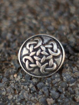 Bouton croix celtique couleur argent