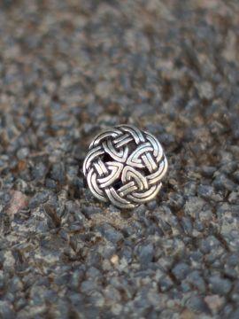 Bouton noeud celtique couleur argent lot de 5