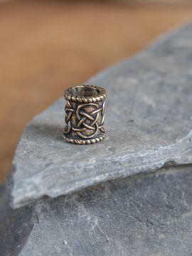 Petite perle à barbe en bronze