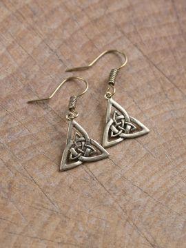 Boucles d'oreilles noeud celtique en bronze