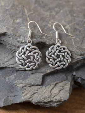 Boucles d'oreilles noeud celtique argentés