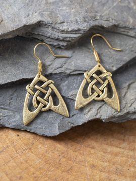 Boucles d'oreilles flèches bronze