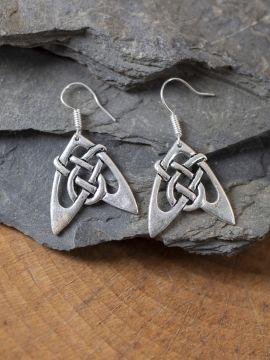 Boucles d'oreilles flèches argentées