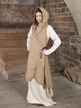 Robe portefeuille Dala en marron clair