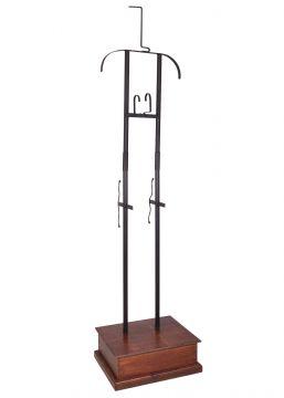 Support d'armure en métal et bois