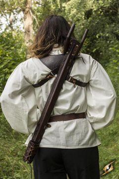 Porte épée dorsal et fourreau