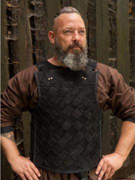 Armure Viking en cuir noir M