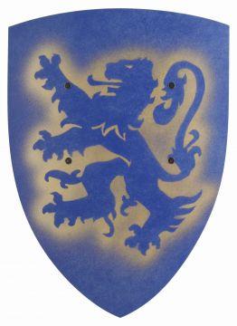Bouclier médiéval en bois lion