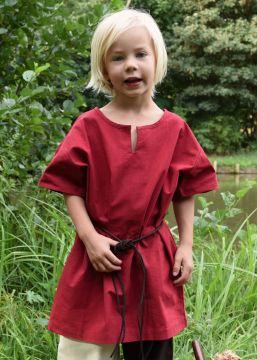 Tunique enfant manches courtes, en rouge