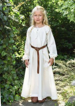 Robe médiévale Mara pour enfant écrue