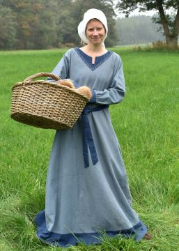 Robe viking Freydis en bleu