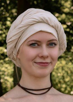 Grand foulard médiéval, écru