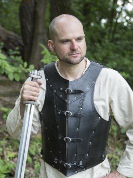 Armure en cuir Antonius en noir