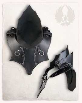 Gorgerin en cuir noir Kendra
