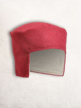 Bonnet médiéval en laine rouge 58
