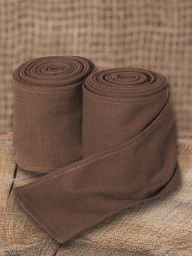 Bandes à enrouler en coton marron (370 cm)
