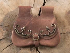 Sacoche de ceinture en nubuck aspect cuir