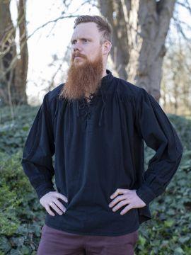 Chemise médiévale en noir S