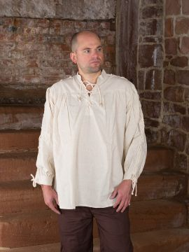 Chemise médiévale manches lacées