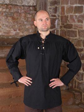 Chemise médiévale noire XL
