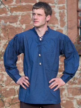 Chemise médiévale bleue
