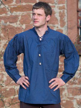 Chemise médiévale bleue XXL