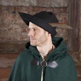 Chapeau de Robin des Bois en noir