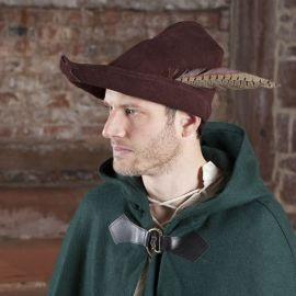 Chapeau de Robin des Bois en cuir marron