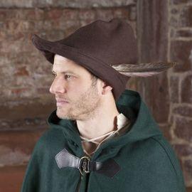 Chapeau de Robin des Bois en marron