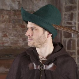 Chapeau de Robin des Bois en vert