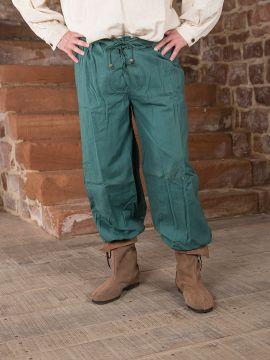Pantalon médiéval en vert M