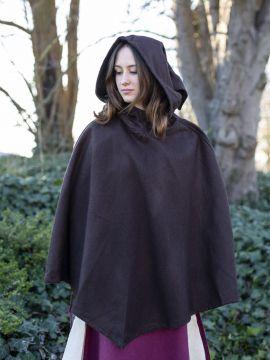 Capuchon en laine marron