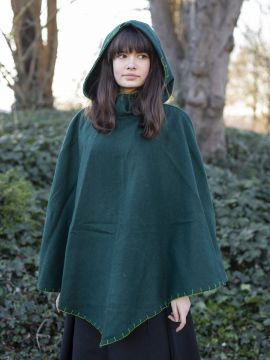 Capuchon en laine vert