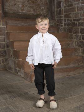 Pantalon médiéval pour enfant en coton XXXS | noir