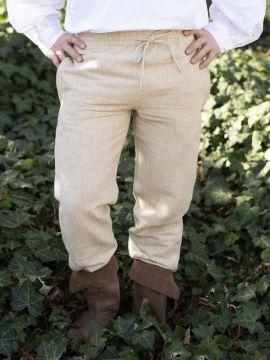 Pantalon médiéval de coton brut, chanvre