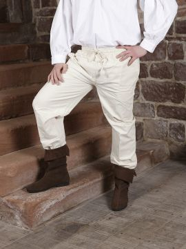 Pantalon médiéval écru