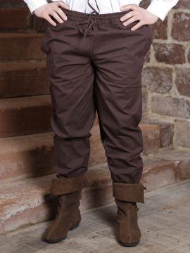 Pantalon médiéval brun foncé