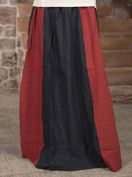 Jupe Médiévale bicolore noire et rouge
