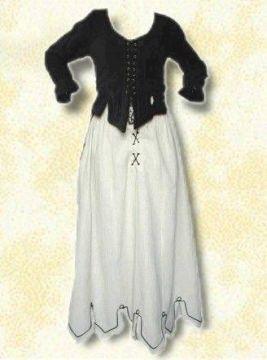 Ensemble corsage et jupe médiévale