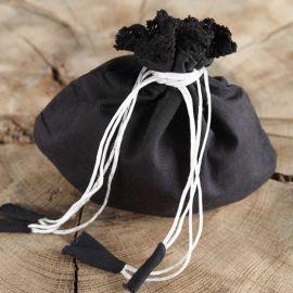 Aumonière en tissu, noire