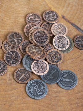 Pièces Celtiques pour GN avec bourse en cuir